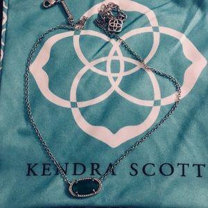 EUC Kendra Scott Elisa Pendant Emerald Cats Eye